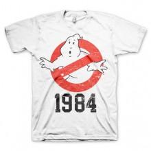 T-Skjorte Ghostbusters 1984 Hvit