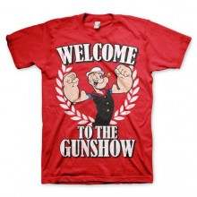 T-Skjorte Popeye - Welcome To The Gunshow Rød