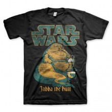 T-Skjorte Star Wars Jabba The Hutt Sort