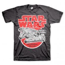 T-Skjorte Star Wars Millennium Falcon Mørk Grå