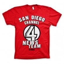 T-Skjorte San Diego Channel 4 Rød