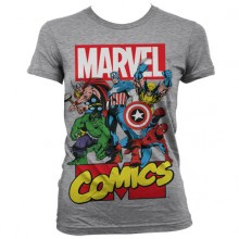 T-Skjorte Marvel Comics Heroes Jente Grå