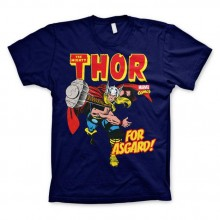 T-Skjorte The Mighty Thor - For Asgard! Blå