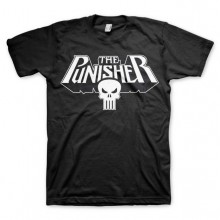T-Skjorte The Punisher Logo Sort