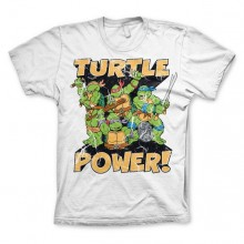 T-Skjorte TMNT - Turtle Power! Hvit