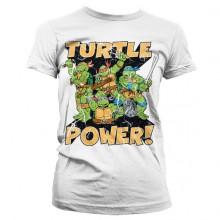 T-Skjorte TMNT - Turtle Power! Dame Hvit