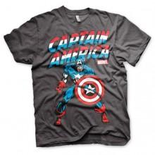 T-Skjorte Captain America Mørkegrå