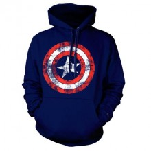 Captain America Distressed Shield Hettegenser Navy