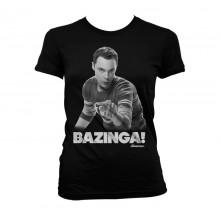 Sheldon Says BAZINGA! T-Skjorte Dame