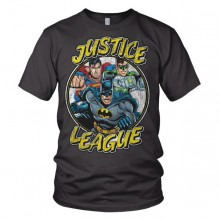 Justice League Team - Mørkegrå T-skjorte