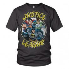 Justice League Team - Mørkegrå T-skjorte