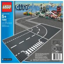 LEGO City Rett T-Kryss & Kurve 7281