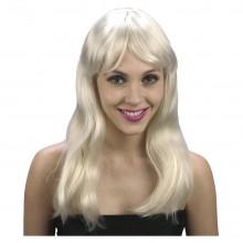 Parykk Blond Bølget Hår