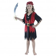 Piratjente Karnevalskostyme Barn