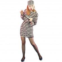 Kvinnelig Fange Kostyme
