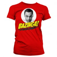 Big Bang Theory Sheldon Bazinga Dame T-skjorte