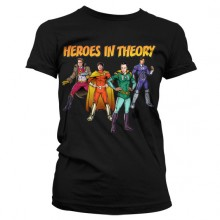 The Big Bang Theory - Heroes In Theory Dame T-skjorte
