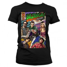 Big Bang Theory - Bazinga Comic Cover Dame T-skjorte