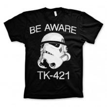 Star Wars Be Aware - TK-421 T-skjorte