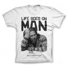 Big Lebowski Life Goes On Man T-Shirt