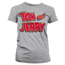 Tom & Jerry Logo Dame T-skjorte