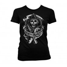 Sons Of Anarchy Scroll Reaper Girly T-Shirt