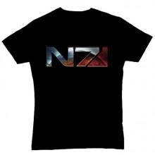 Mass Effect 3 Chrome N7 T-skjorte Svart