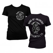 Sons Of Anarchy SOA Full CA Backprint Girly T-skjorte