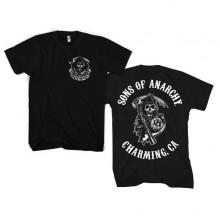 Sons Of Anarchy SOA Full CA Backprint T-skjorte