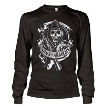 Sons Of Anarchy SOA Scroll Reaper Long Sleeve T-Shirt