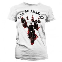 Sons Of Anarchy Motorcycle Gang Girly T-skjorte