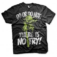 T-Skjorte Star Wars There Is No Try - Yoda