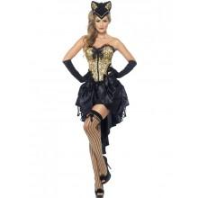 Burlesque Kattekostyme