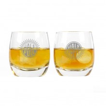 Whiskeyglass Half Full Half Empty 2-pack