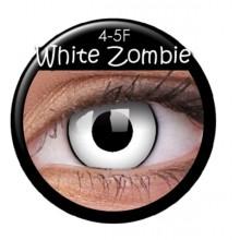 Fargede linser crazy zombie-hvit