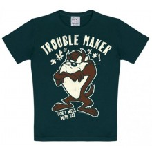 T-Skjorte Looney Tunes Trouble Maker Barn Sort