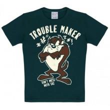 T-Skjorte Looney Tunes Trouble Maker Barn Sort