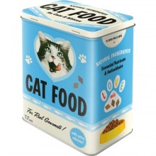 Blikkboks Retro Cat Food
