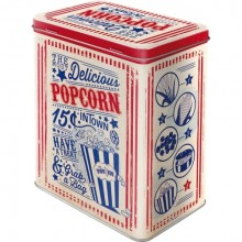 Metallboks Retro Popcorn