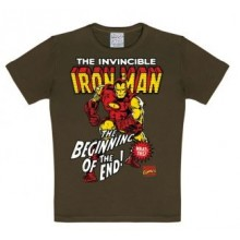 Marvel Iron Man T-Skjorte Barn Brun