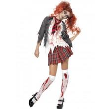 Ungdomskole Skrekk Zombie Skolejente Kostyme