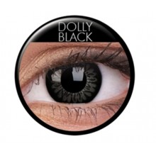 Fargede linser big eyes dolly black