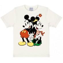 T-Skjorte Disney Mikke & Minni Barn Hvit