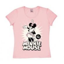 T-Skjorte Disney Minni Mus Since 1928 Dame Rosa