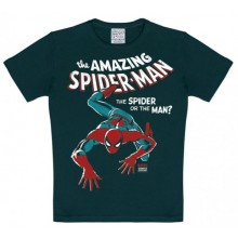 T-Skjorte Marvel The Amazing Spiderman Barn Sort