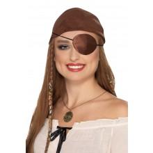 Øyelapp Pirat Sateng Brun