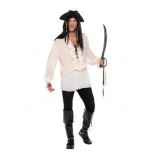 Piratskjorte Hvit