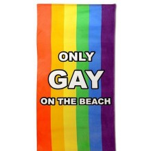 Only Gay On The Beach Håndduk