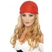 Parykk Med Bandana Pirat Blond