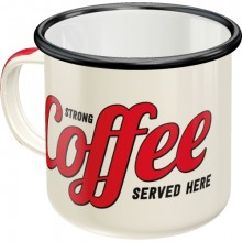 Kopp Emalje Strong Coffee